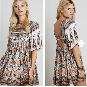 Free people cream midsummer dream dress tunic xs